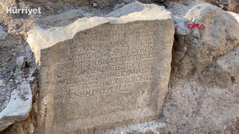 İznik'te Roma dönemine ait mezar taşı keşfedildi
