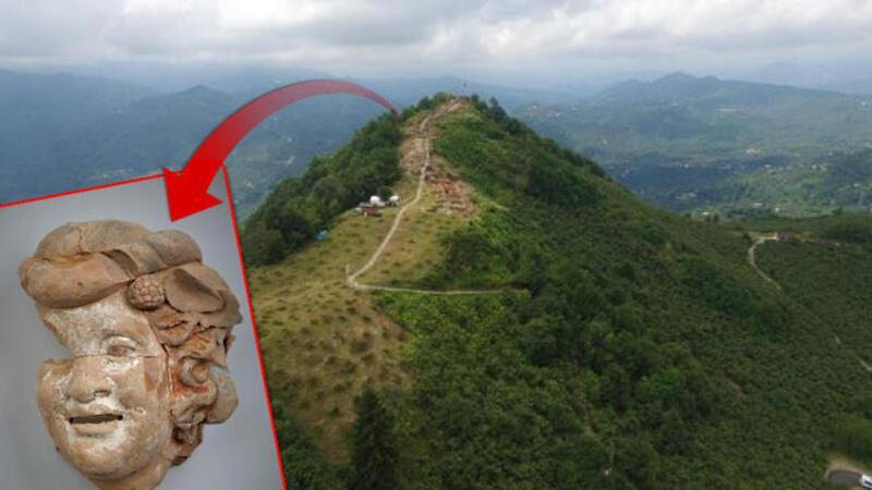 Ordu'da Kurul Kalesi'nde 2 bin 100 yıllık büst ve masklar bulundu