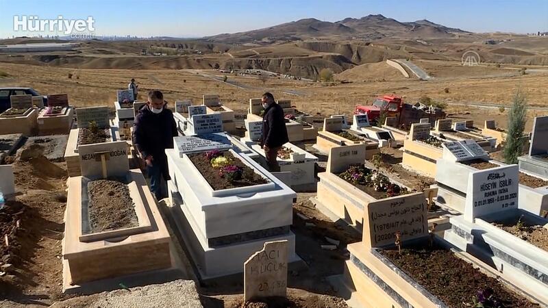 Kovid-19'dan hayatını kaybedenlerin Ortaköy Mezarlığı'na defnediliyor