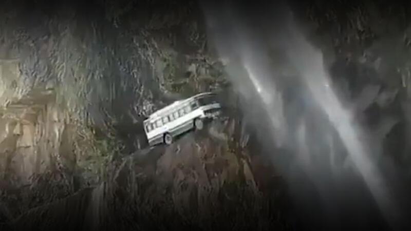 Uçurum kenarında daracık bir yol