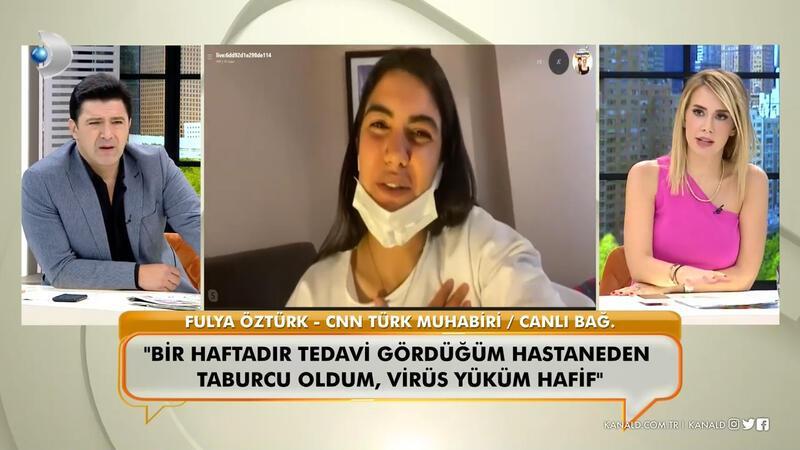 Koronavirüse yakalanan CNN Türk muhabiri Fulya Öztürk, yaşadıklarını ilk kez canlı yayında anlattı