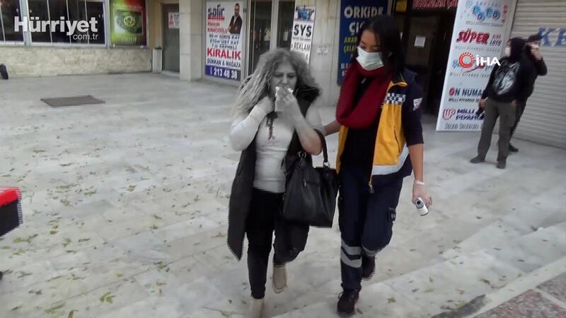 Genç kadın kocasının makaslı saldırısı sonrası kanlar içinde kaldı