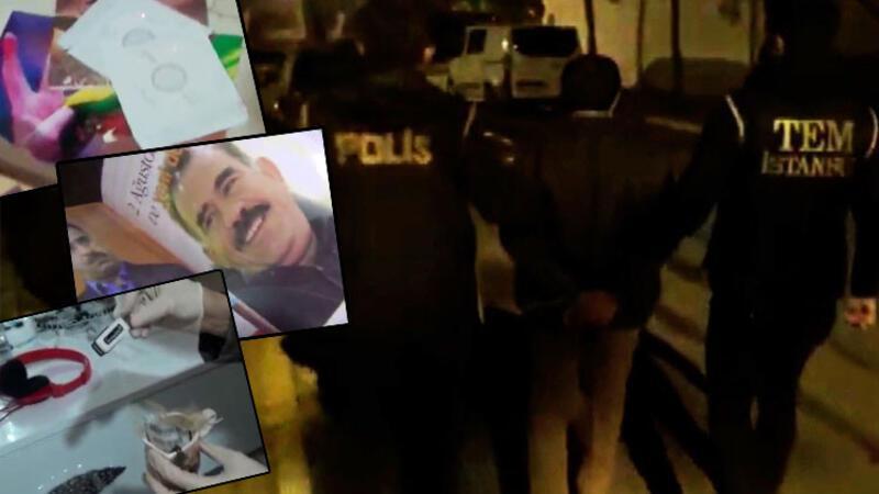 Son dakika haber... İstanbul'da terör örgütü PKK/KCK'ya yönelik operasyon kamerada