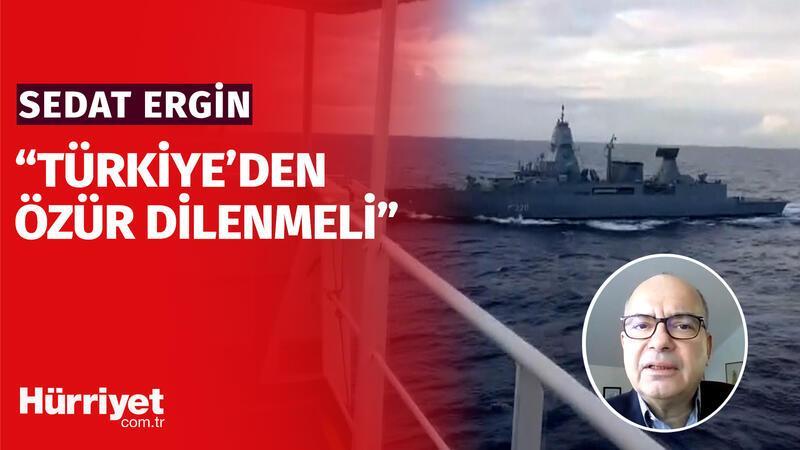 """Sedat Ergin: """"Korsan gemisi değildi, özür dilenmeli"""""""