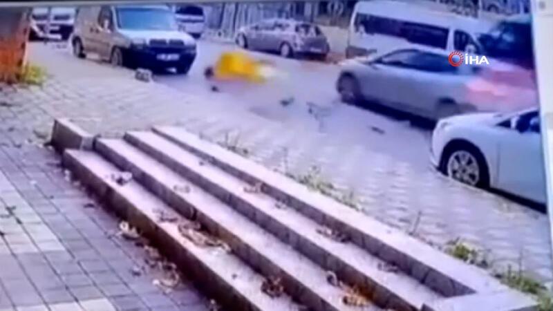 Maltepe'de feci motosiklet kazası kamerada