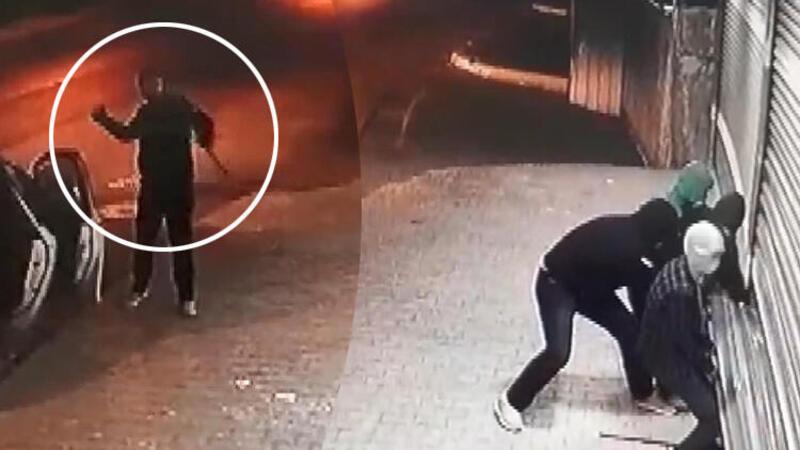 Yer: Esenyurt... Hırsızlar kendilerine şişe atan komşuya taşla karşılık verdi