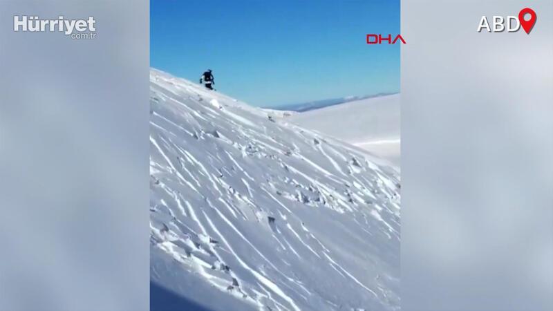 ABD'de kayakçılar çığ altında kalmaktan son anda kurtuldu