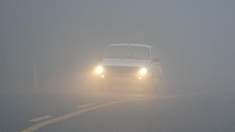 Bursa'da aniden bastıran sis, sürücülere zor anlar yaşattı