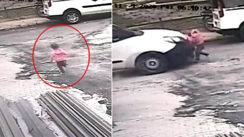 3 yaşındaki Ayşe'nin hayatını kaybettiği kazada sürücü kaçtı! Dehşet anları kamerada