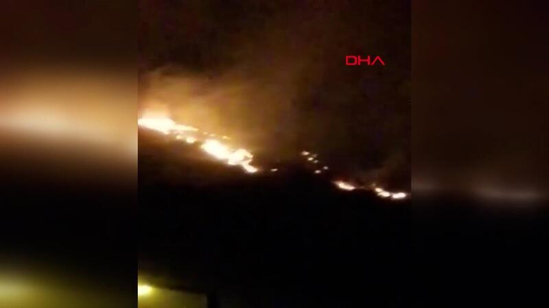 Hatay Samandağ'da dağlık alanda yangın çıktı