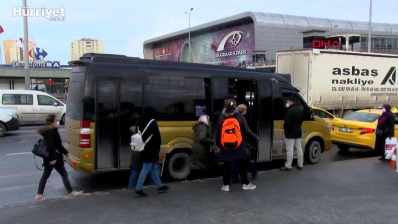 Fazla yolcu taşıyan minibüsler cam filmiyle görünmez oluyor