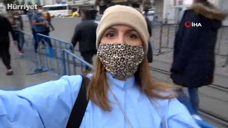 Ceza kesilen kadın turist gazeteciye saldırdı
