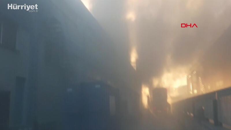 Çatalca'da fabrika yangın meydana geldi