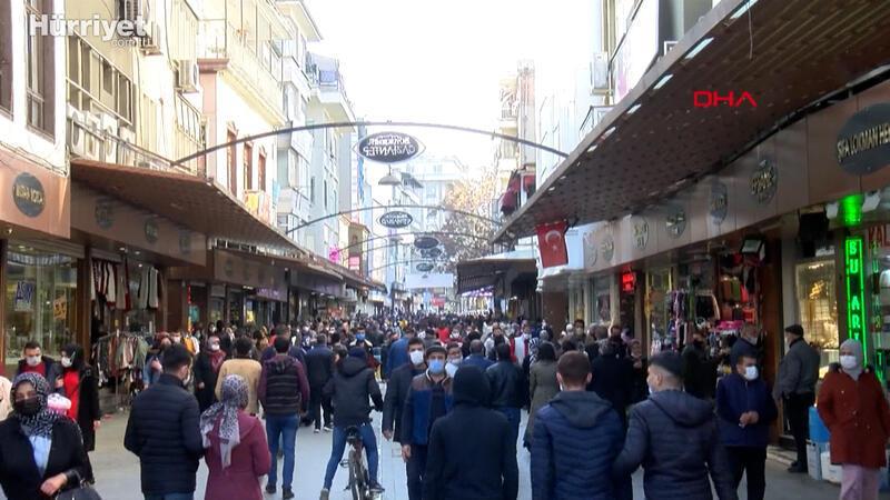 Gaziantep'te, kısıtlama sonrası alışveriş yoğunluğu