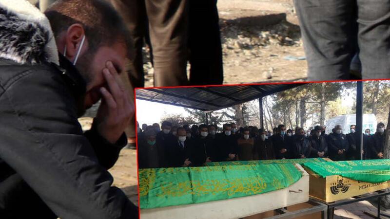 Elazığ'daki feci kazada hayatını kaybeden anne, baba ve kızları toprağa verildi