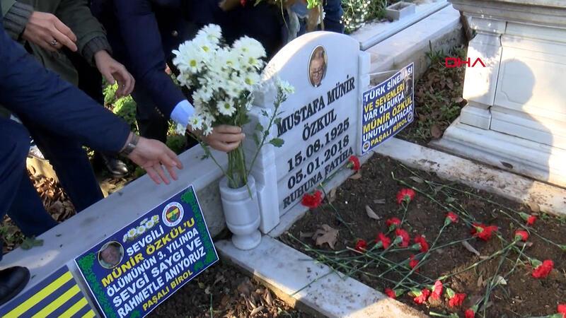"""""""En sevdiğimiz Fenerbahçeli babamdı"""" Münir Özkul, ölümünün 3. yıldönümünde anıldı"""