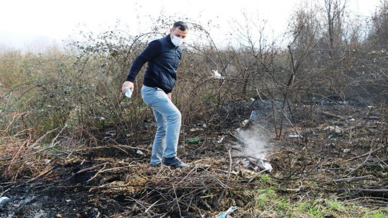 Adil Öksüz'ün çanta gömdüğü iddia edilen arazideki yangın için soruşturma başlatıldı