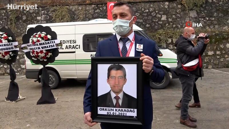 Amasya'da koronadan hayatını kaybeden sağlık çalışanı için tören