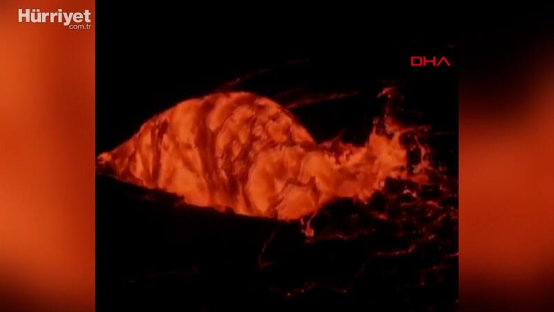 Kilauea yanardağı iki haftalık uykusundan uyandı