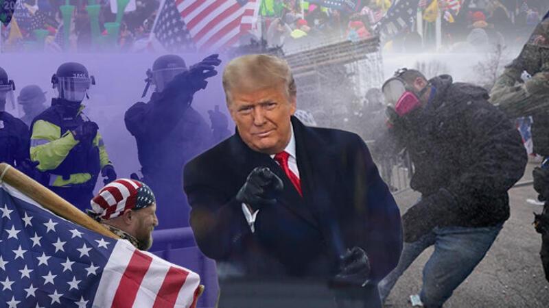 Trump destekçileri polis barikatını aşarak Kongre binasına girdi