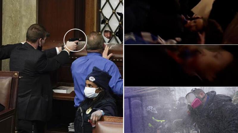 ABD'de Kongre binasında çıkan olaylarda 1 kişi vuruldu