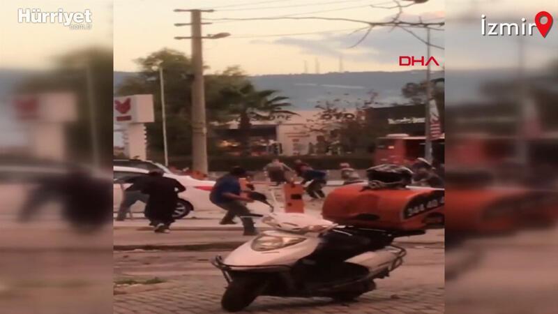 İzmir'de iki grup 'hurda' için birbirine girdi