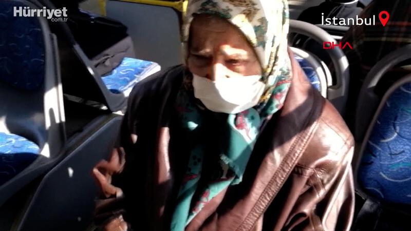65 yaş üstü kadın otobüse binme ısrarı! 'Benim sağlığım yerinde'