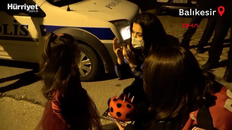 Polisten minik Elisa'ya 'doğum günü' sürprizi