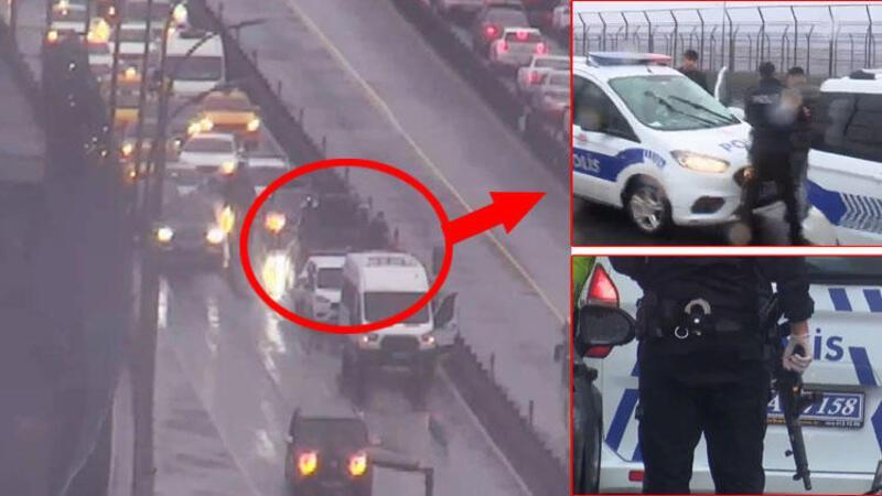 Polisten kaçan şüpheliler Haliç Köprüsü'nde böyle yakalandı