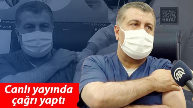 CoronaVac aşısı, Ankara Şehir Hastanesi'nde Sağlık Bakanı Koca'ya yapıldı