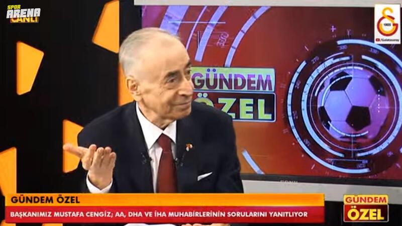 Galatasaray'da Mustafa Cengiz'den Fatih Terim açıklaması