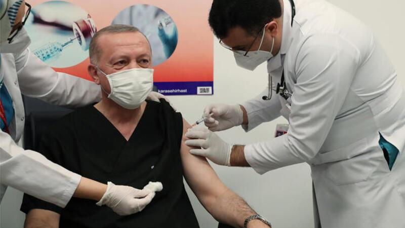 Cumhurbaşkanı Erdoğan corona virüsü aşısı yaptırdı