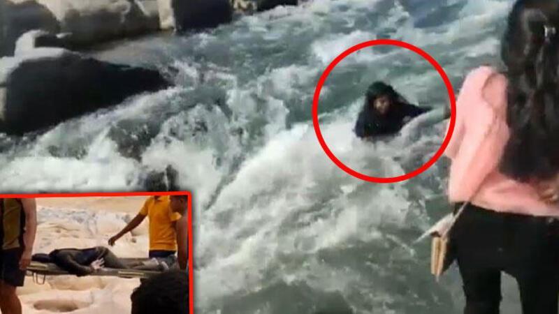 Hintli kadın nehrin kıyısında ölüme 'selfie' çekti