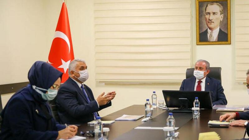 TBMM Başkanı Mustafa Şentop, Vali Yıldırım'ı ziyaret etti