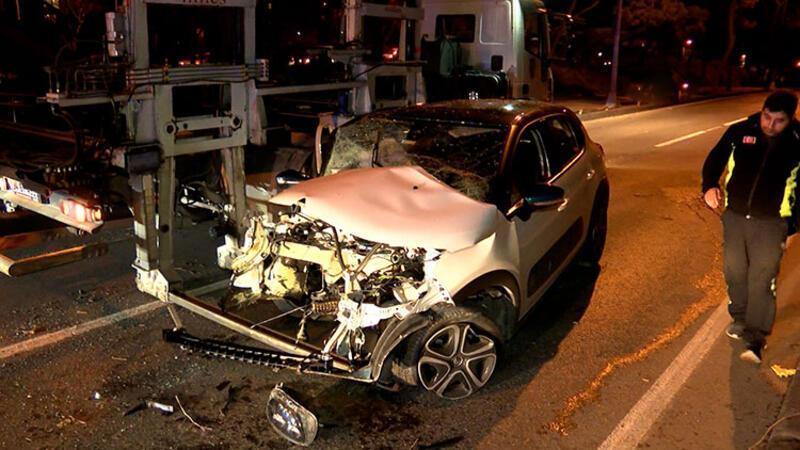 Korkunç kaza! Motoru yerinden çıktı