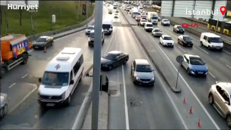 İstanbul trafiğinden ilginç görüntüler! Kural tanımıyorlar...