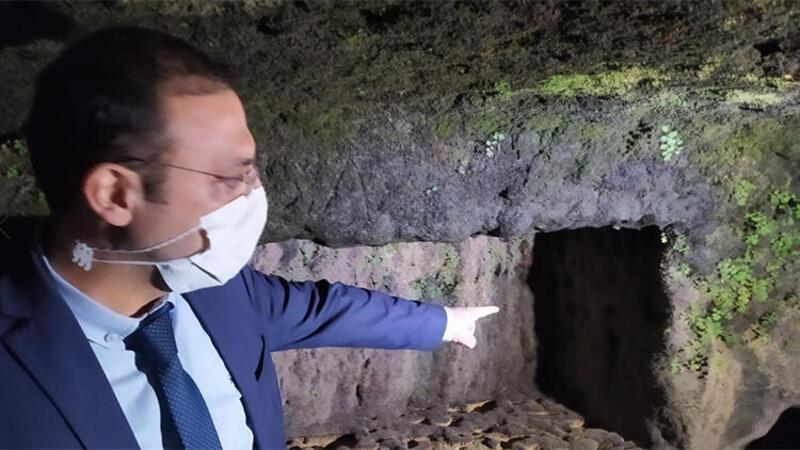 Tarsus Şelalesi'ndeki Roma kaya mezarları, suların çekilmesi ile yeniden ortaya çıktı