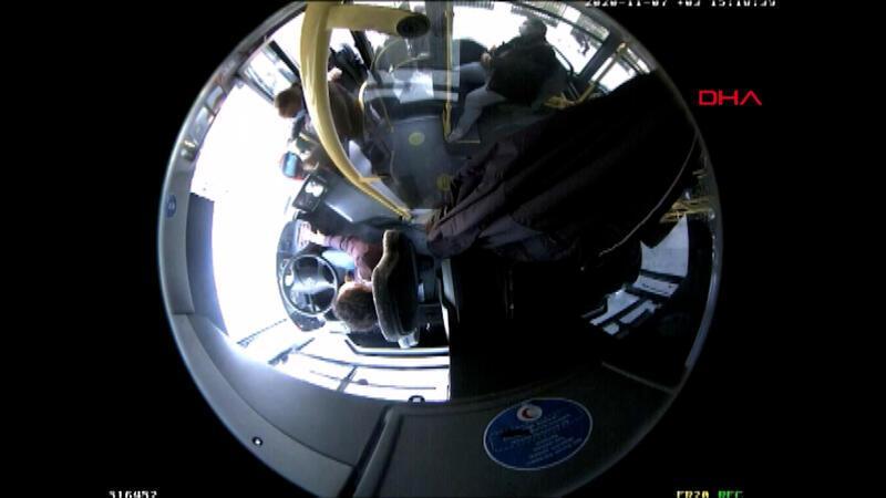 Otobüste yolcunun parasını alırken kameraya yansıyan şüpheli tutuklandı