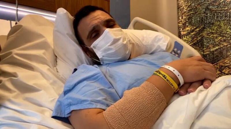 Kovid-19 nedeniyle 10 gün önce hastanelik olan Okan Karacan'dan güzel haber...