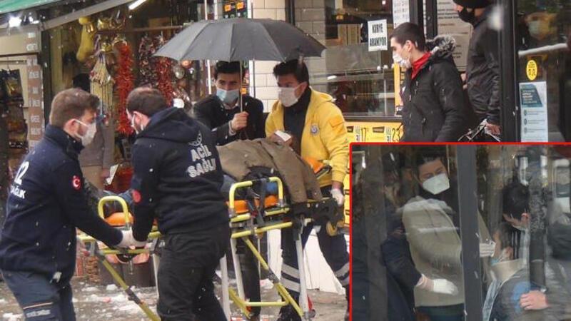 Şişli'de turistin başına buz kütlesi düştü