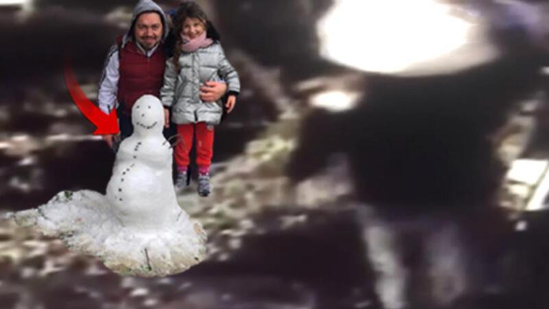 'Pes' dedirten hırsızlık... Kardan adamı çaldılar