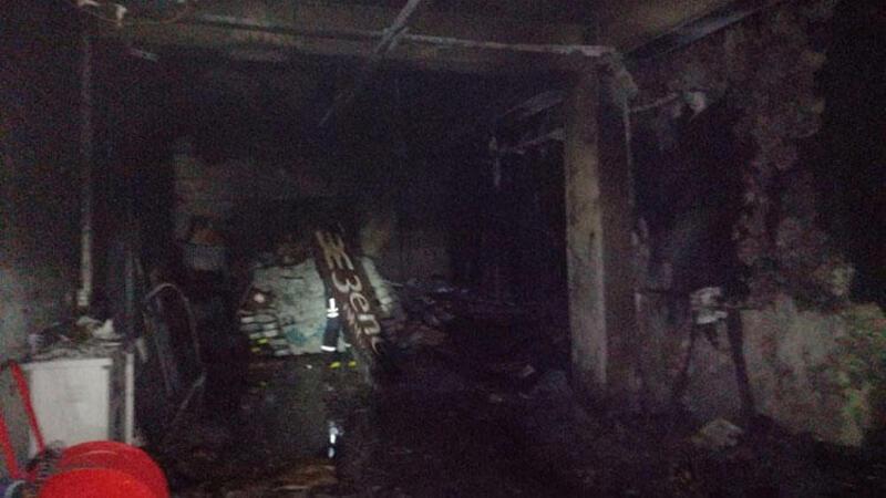 Bodrum'da iş yerinin deposunda çıkan yangın söndürüldü