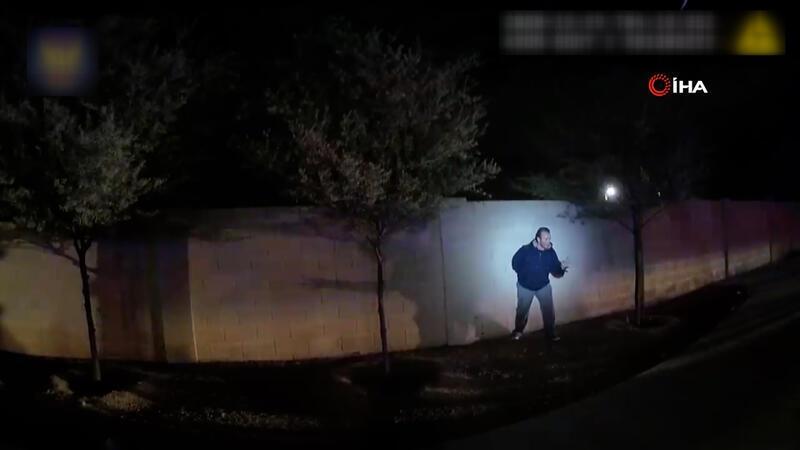 ABD polisinin şüpheli şahsı kurşuna dizdiği anların görüntüleri ortaya çıktı