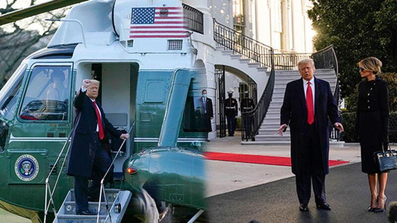 Trump, Beyaz Saray'dan ayrıldı