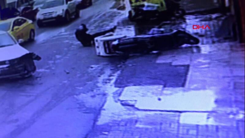 Şişli'de 'sinyalsiz dönüş' kazası! O anlar kamerada