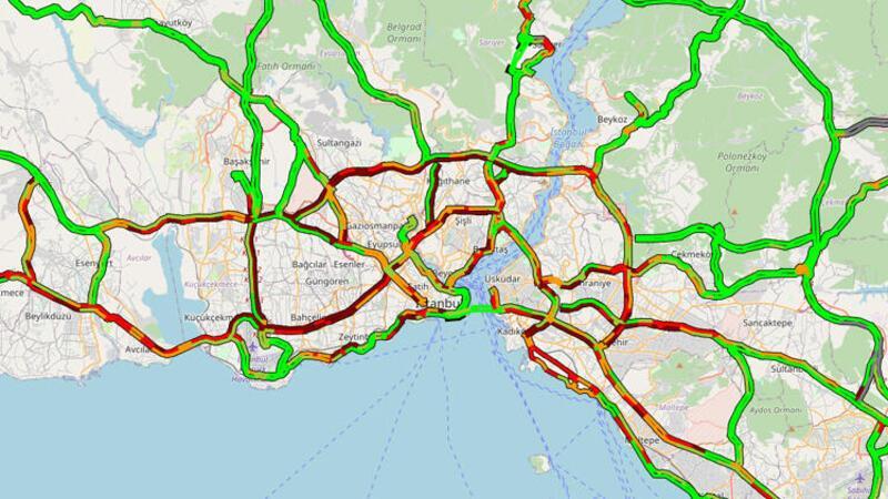 İstanbul'da kısıtlama öncesi trafik yoğunluğu başladı