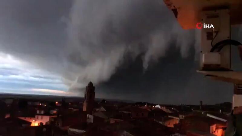 Hortense fırtınası İspanya'yı vurdu