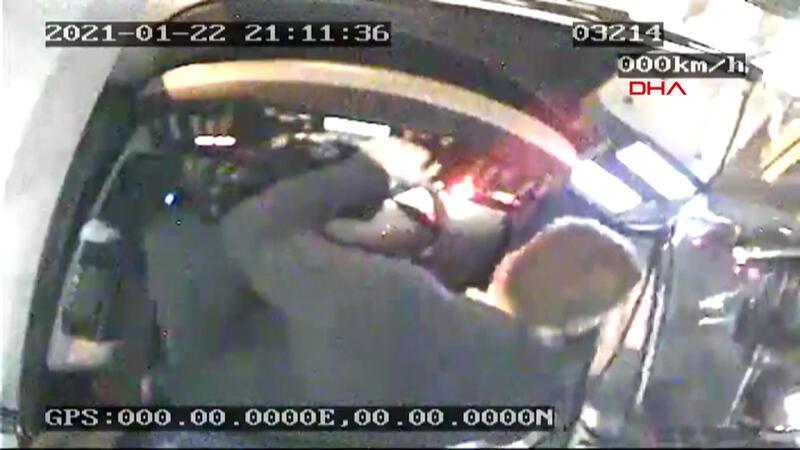 Eyüpsultan'da İETT şoförüne saldırının görüntüsü ortaya çıktı