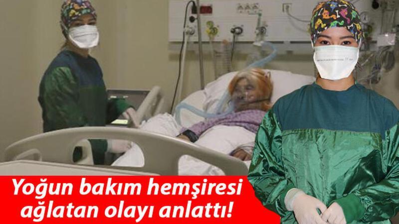 Samsun'da yoğun bakım hemşiresini ağlatan detay: Hastam, elime 'beni bırakma, korkuyorum' yazdı