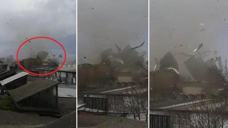 Bursa'da meydana gelen şiddetli lodos zor anlar yaşattı